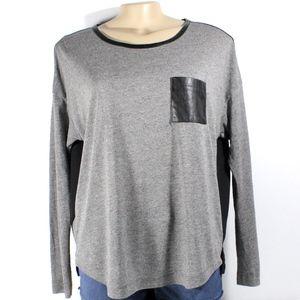 ⭐️Loft Grey Long Sleeves Top Womens Size Medium⭐️